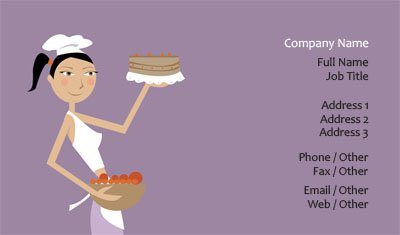 Purple Bakery Business Card Template